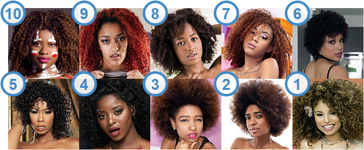 TOP 10 most enchanting Ebony cam girls and stars with Afro Hairstyle