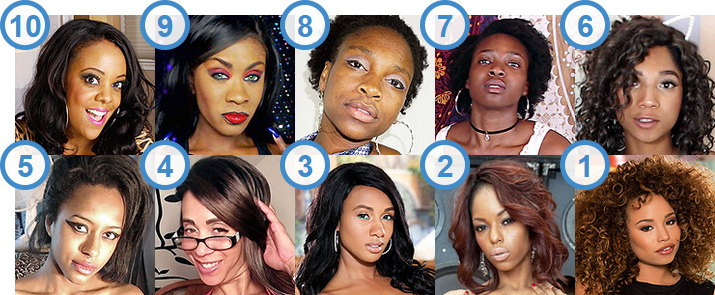 TOP 10 hottest Black American Cam Girls